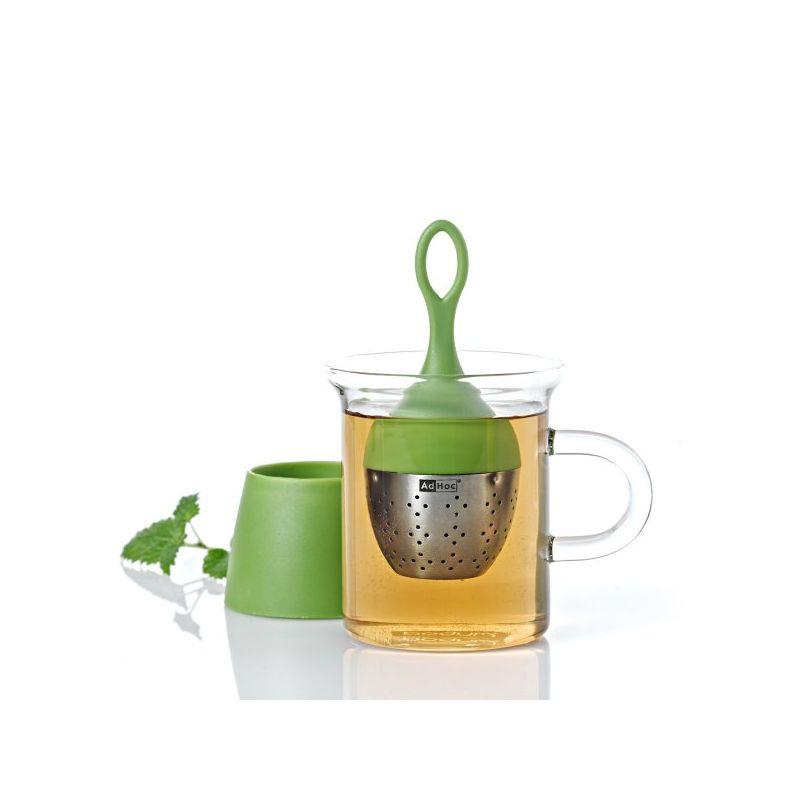 adhoc schwimmendes tee ei floatea gr n teesieb teefilter teesi. Black Bedroom Furniture Sets. Home Design Ideas