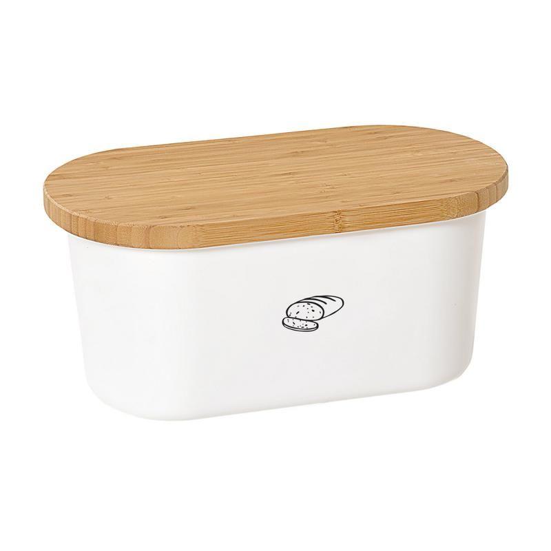 brotkasten brotbox mit schneidbrett gro wei melamin b. Black Bedroom Furniture Sets. Home Design Ideas