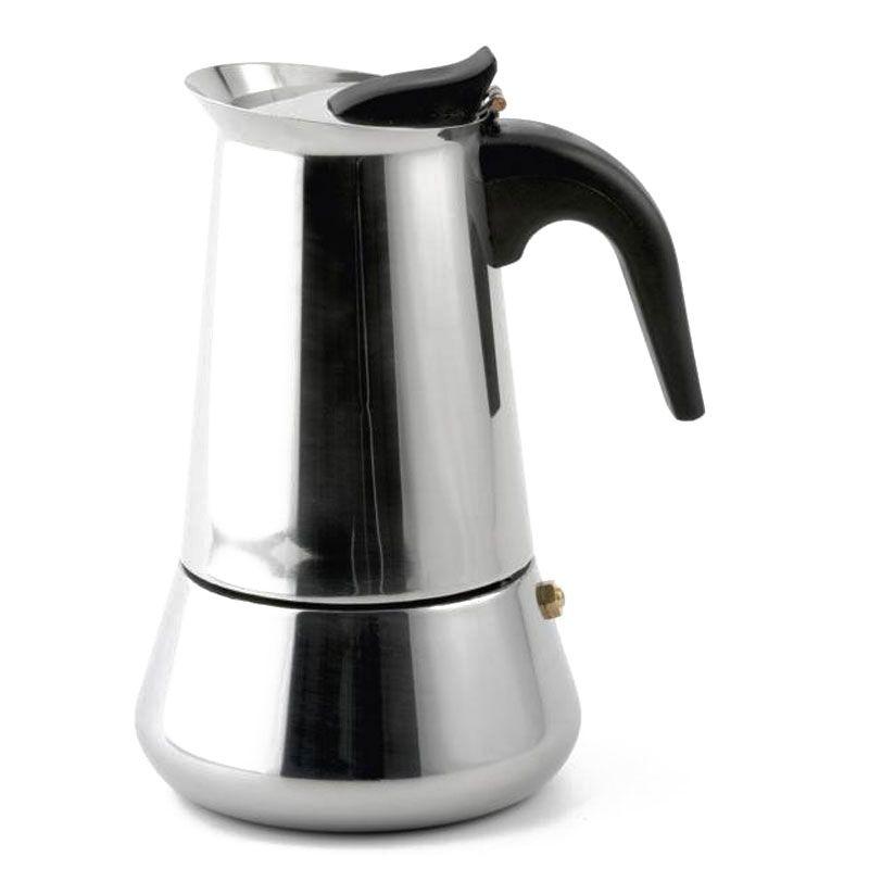 espressokocher kaffeekocher moccakocher f r 4 tassen edelstahl. Black Bedroom Furniture Sets. Home Design Ideas
