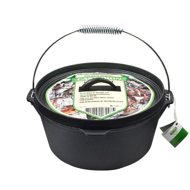 Gusseisentopf Eisentopf Gusseisenkessel Dutch Oven, mit Deckel und Tr