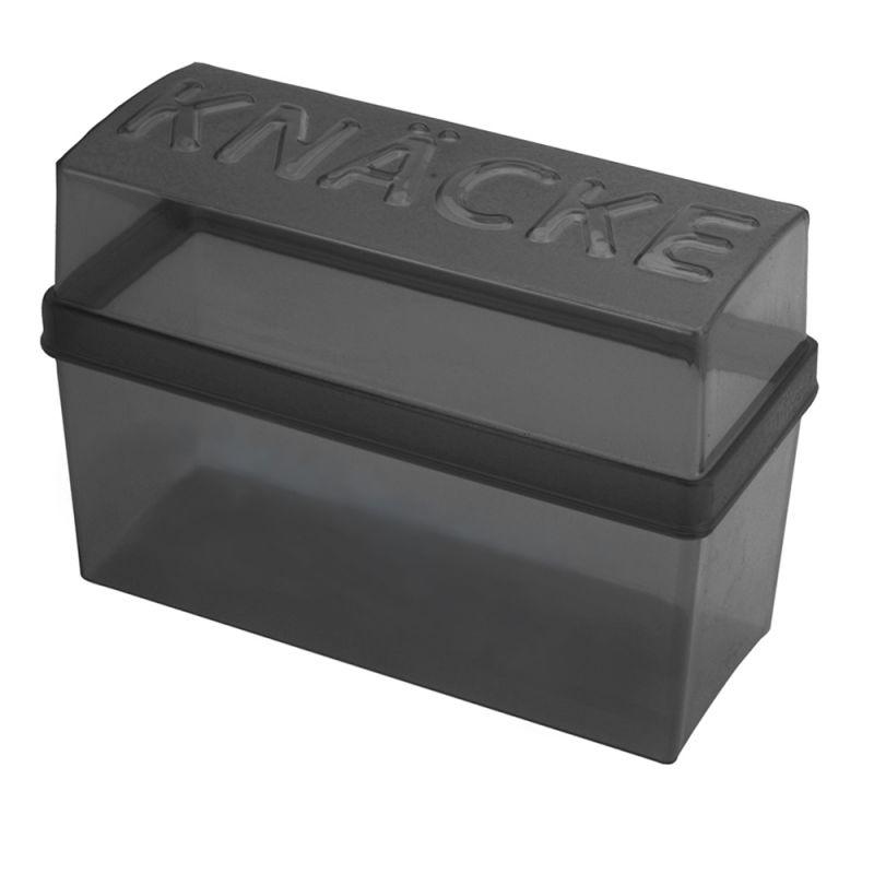 Vorratsbehälter Kunststoff knäckebrotdose knäckebrotbox kunststoff dunkelgrau transp