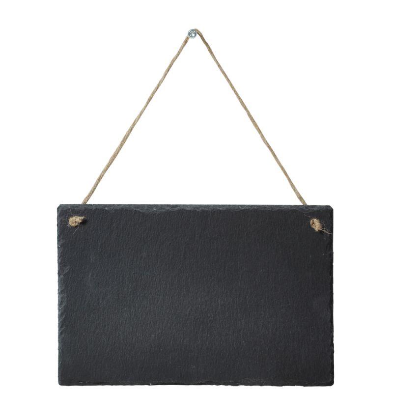 schiefertafel schieferplatte kreidetafel h ngeschild zum aufh au. Black Bedroom Furniture Sets. Home Design Ideas