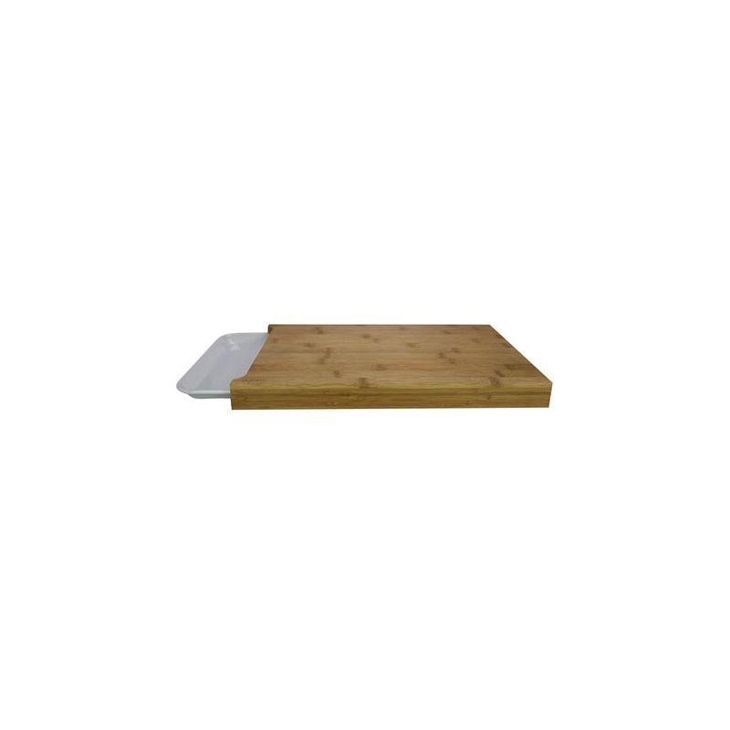 schneidebrett mit schale bambus 38 x 26 cm 14 99. Black Bedroom Furniture Sets. Home Design Ideas