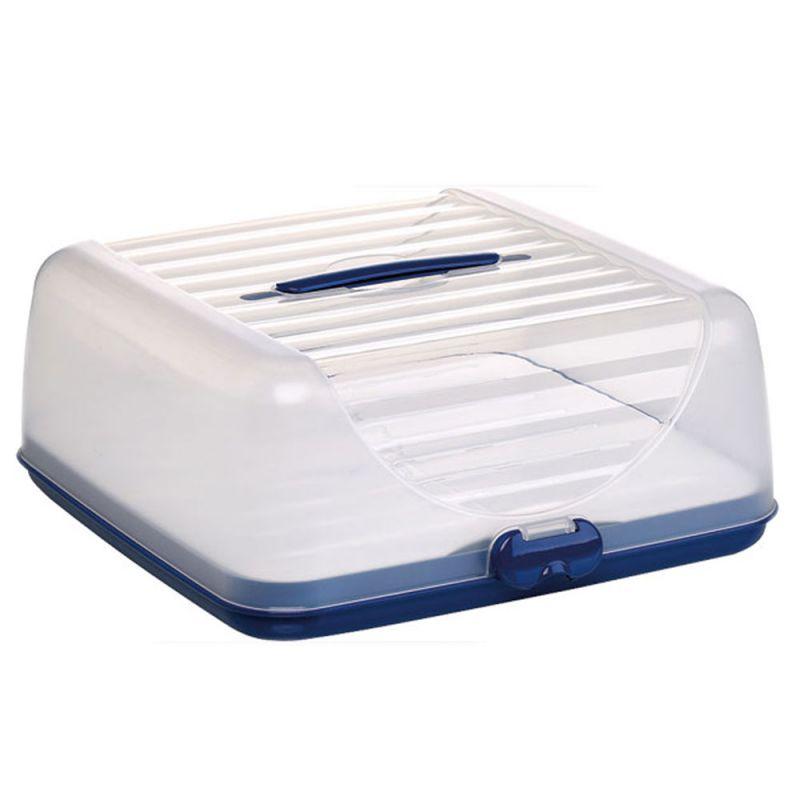 Kuchentransportbox Weiß: Tortenbuttler Tortenbox Frischhaltehaube Transportbox