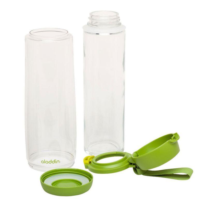 trinkflasche aladdin innen glas au en kunststoff ca l. Black Bedroom Furniture Sets. Home Design Ideas