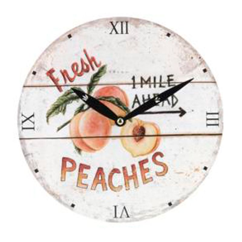 wanduhr fr chte peaches ca 23 cm rund 12 99. Black Bedroom Furniture Sets. Home Design Ideas