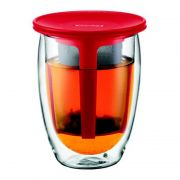 Bodum TEA FOR ONE Thermo-Glas, doppelwandig, mit Filter...